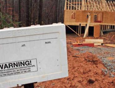 Home construction site