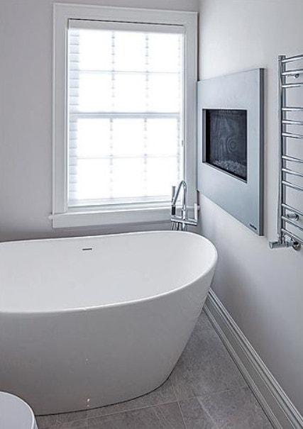of Bathroom of custom home renovation.
