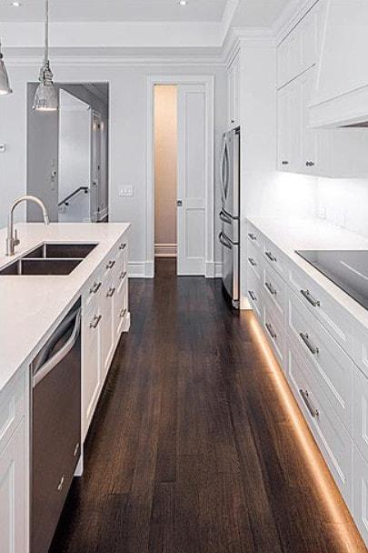 Custom home kitchen renovation.