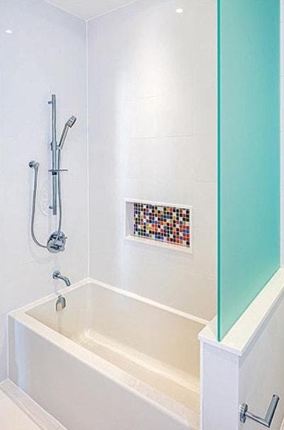 Custom home bathroom renovation.