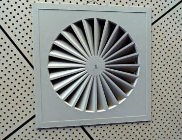 Exhaust Fan provides ventilation