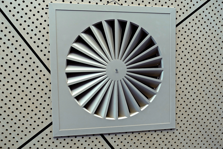 Exhaust Fan provides ventilation
