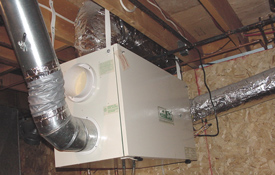 HRV unit installed in home