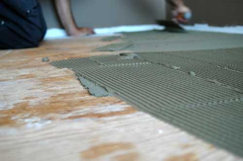 Thinset on Plywood Subfloor
