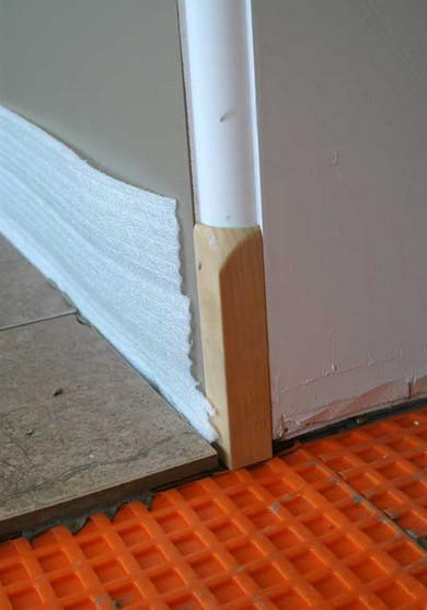 Wall Protection During Ceramic Tile Flooring Installation