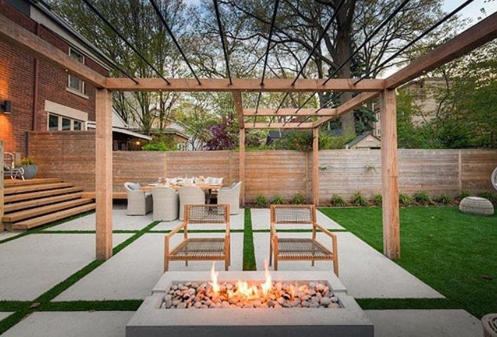 Backyard fire element