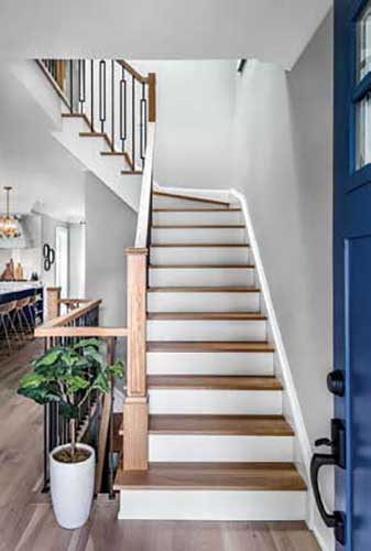 Reconfigured staircase.