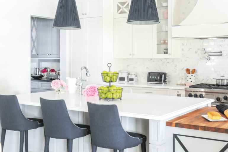 Designer Space Blooms with Pops of Pink